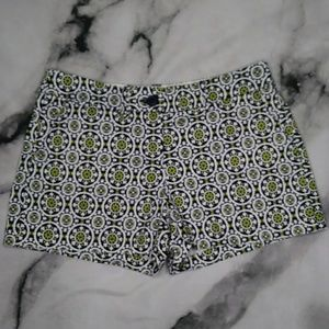 Crown & Ivy Women's Geometric Canvas Shorts Size 4